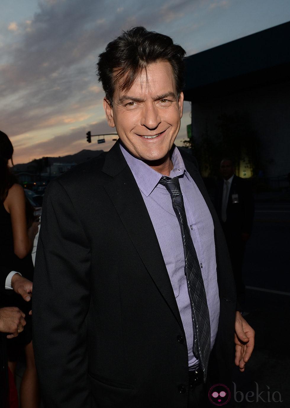 Charlie Sheen en la premiere de 'Scary Movie 5'
