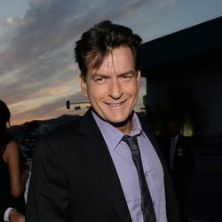 Charlie Sheen en la premiere de 'Scary Movie 5'