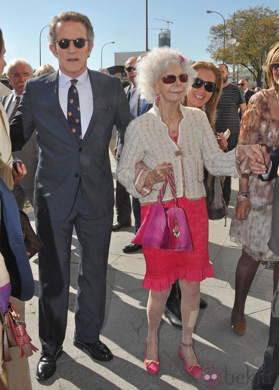 Alfonso Díez y la Duquesa de Alba en la Encerrona de José María Manzanares