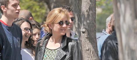 La Infanta Cristina sonriente en Barcelona