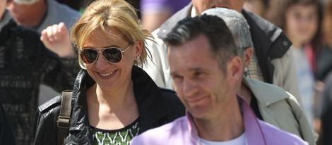 Los Duques de Palma, muy sonrientes en Barcelona