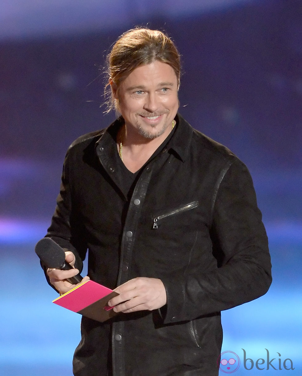 Brad Pitt en la gala de los MTV Movie Awards 2013