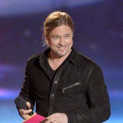 Brad Pitt en la gala de los MTV Movie Awards 2013
