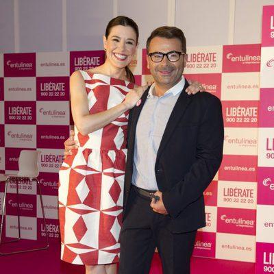 Jorge Javier Vázquez y Raquel Sánchez Silva en un acto de Entulinea de Weight Watchers