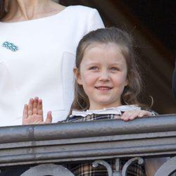 Isabel de Dinamarca en el 73 cumpleaños de la Reina Margarita