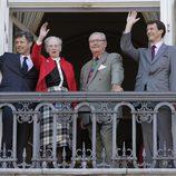 Federico, Margarita, Enrique y Joaquín de Dinamarca celebran el 73 cumpleaños de la Reina Margarita