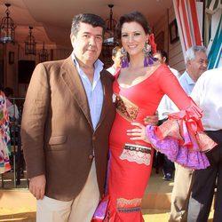 María Jesús Ruiz y José María Gil Silgado en la Feria de Abril 2013