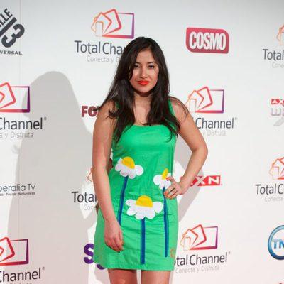 Giselle Calderón en la presentación de Total Channel en Madrid