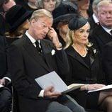 Mark y Sarah Thatcher en el funeral de Margaret Thatcher