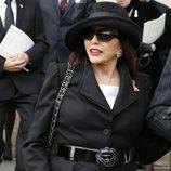 Joan Collins en el funeral de Margaret Thatcher