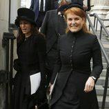 Sarah Ferguson en el funeral de Margaret Thatcher