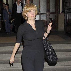 Anabel Alonso en el funeral de Sara Montiel