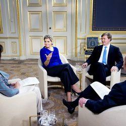 Guillermo y Máxima de Holanda en una entrevista