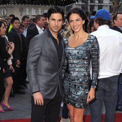 Mikel Arteta y Lorena Bernal en el estreno de 'Iron Man 3' en Londres