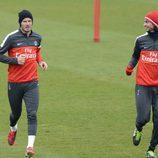 David Beckham en uno de los entrenamiento del Paris Saint Germain
