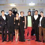 Alex González, Alberto Ammann, María Castro y Carlos Jean en la entrega del Premio Málaga SUR del Festival de Málaga 2013
