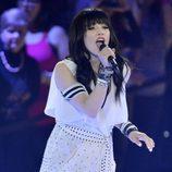 Carly Rae Jepsen durante su actuación en los Juno Awards 2013