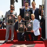 Los Backstreet Boys en el Paseo de la Fama de Hollywood