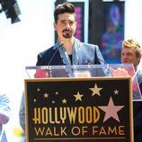 Kevin Richardson dedica unas palabras en el Paseo de la Fama de Hollywood