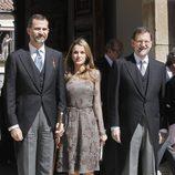 Los Príncipes de Asturias y Mariano Rajoy en la entrega del Premio Cervantes 2012