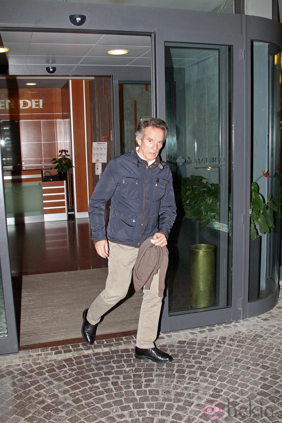 Alfonso Díez visita a la Duquesa de Alba en Roma