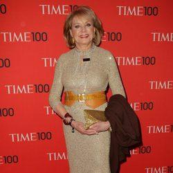 La periodista Barbara Walters en la gala de la revista Time 2013