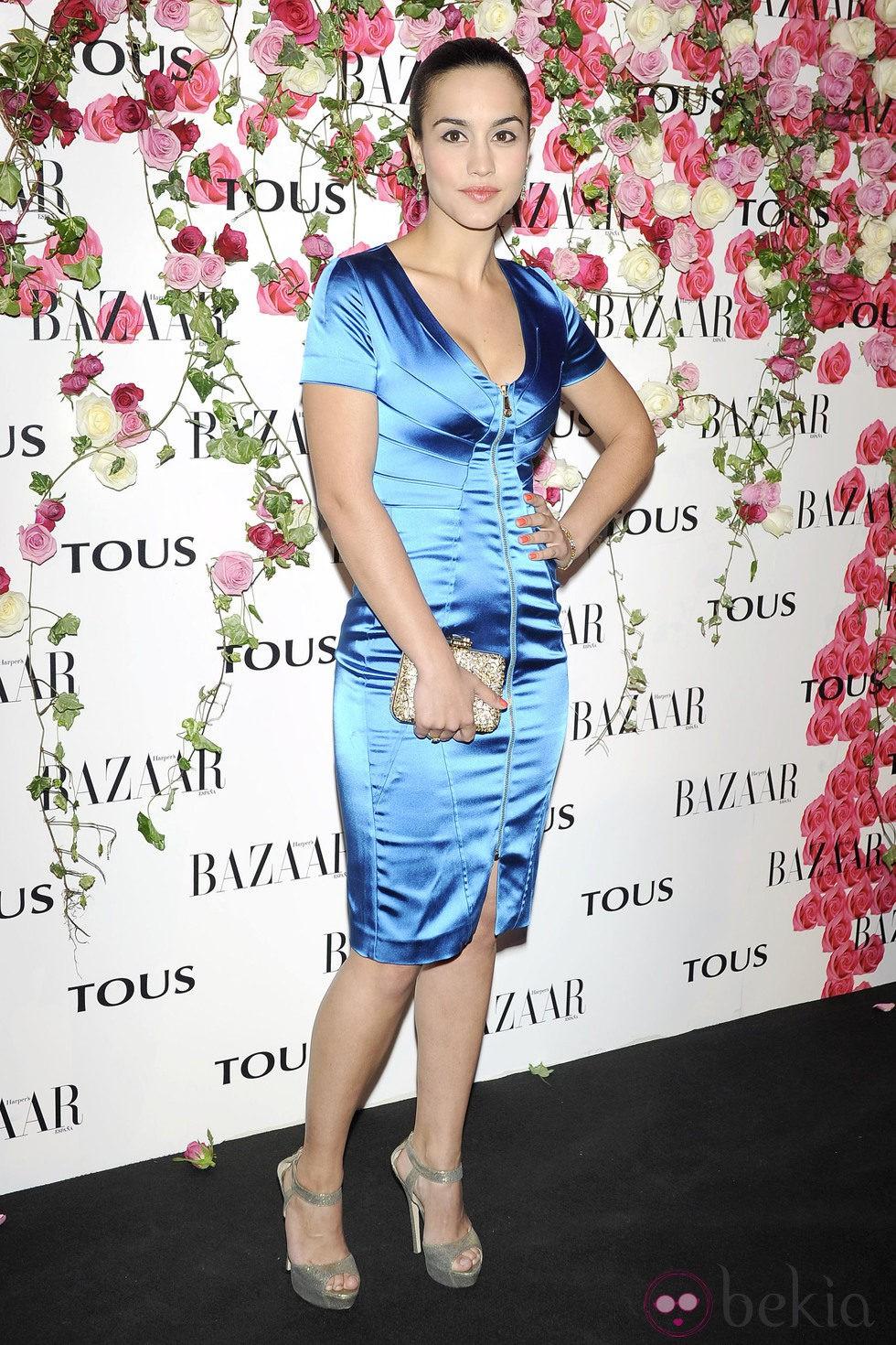 b76cbb77a Anterior Megan Montaner en la fiesta de presentación del perfume  Rosa