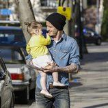 Harper Seven, muy cariñosa con su padre David Beckham