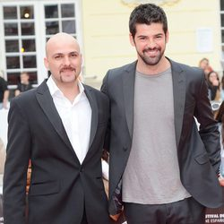 Lucas Figueroa y Miguel Ángel Muñoz en la presentación de 'Viral' en el Festival de Málaga 2013
