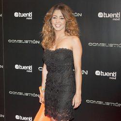 Sandra Cervera en el estreno de 'Combustión'