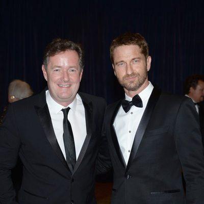 Piers Morgan y Gerard Butler en la 2013 White House Correspondents' Association