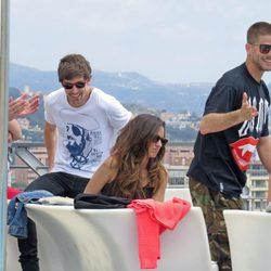 Iván Massagué, Adrián Lastra, Luis Fernández y Ana Polvorosa en Málaga