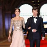 Los príncipes Federico y Mary de Dinamarca en la cena previa a la abdicación de la Reina Beatriz de Holanda