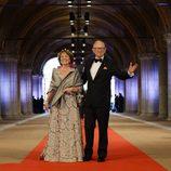 La Princesa Margarita de los Países Bajos y Pieter Van Vollenhoven en la cena previa a la abdicación de la Reina Beatriz de Holanda