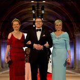 Los príncipes Mabel de Orange, Constantino y Laurentien de Holanda en la cena previa a la abdicacion de la Reina Beatriz de Holanda