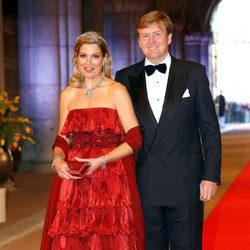 Los príncipes Guillermo y Máxima de Holanda en la cena previa a la abdicación de la Reina Beatriz de Holanda