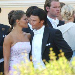 Victoria de Suecia y Daniel Westling en 2003