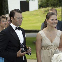 Victoria de Suecia y Daniel Westling en 2007
