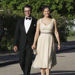 Victoria de Suecia y Daniel Westling en 2008