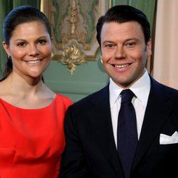 Victoria de Suecia y Daniel Westling en su pedida de mano en 2009