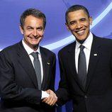Zapatero y Obama en 2010