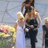Lindsay Lohan en la boda de Kim Kardashian