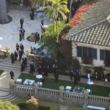 Vista aérea de la boda de Kim Kardashian