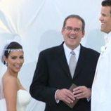 Kim Kardashian y Kris Humphries en el altar