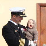 Federico de Dinamarca y el Príncipe Vicente en el crucero real Dannebrog
