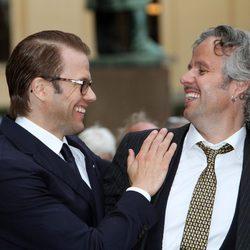 Daniel de Suecia bromea con Ari Behn en el 10 aniversario de Haakon y Mette Marit