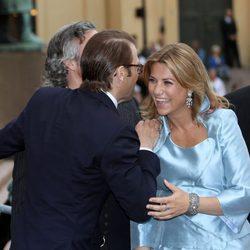Daniel de Suecia bromea con Marta Luisa de Noruega en el 10 aniversario de Haakon y Mette Marit