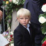 Sverre Magnus de Noruega en el 10 aniversario de Haakon y Mette-Marit