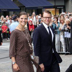 Los Príncipes Victoria y Daniel de Suecia en el 10 aniversario de Haakon y Mette-Marit