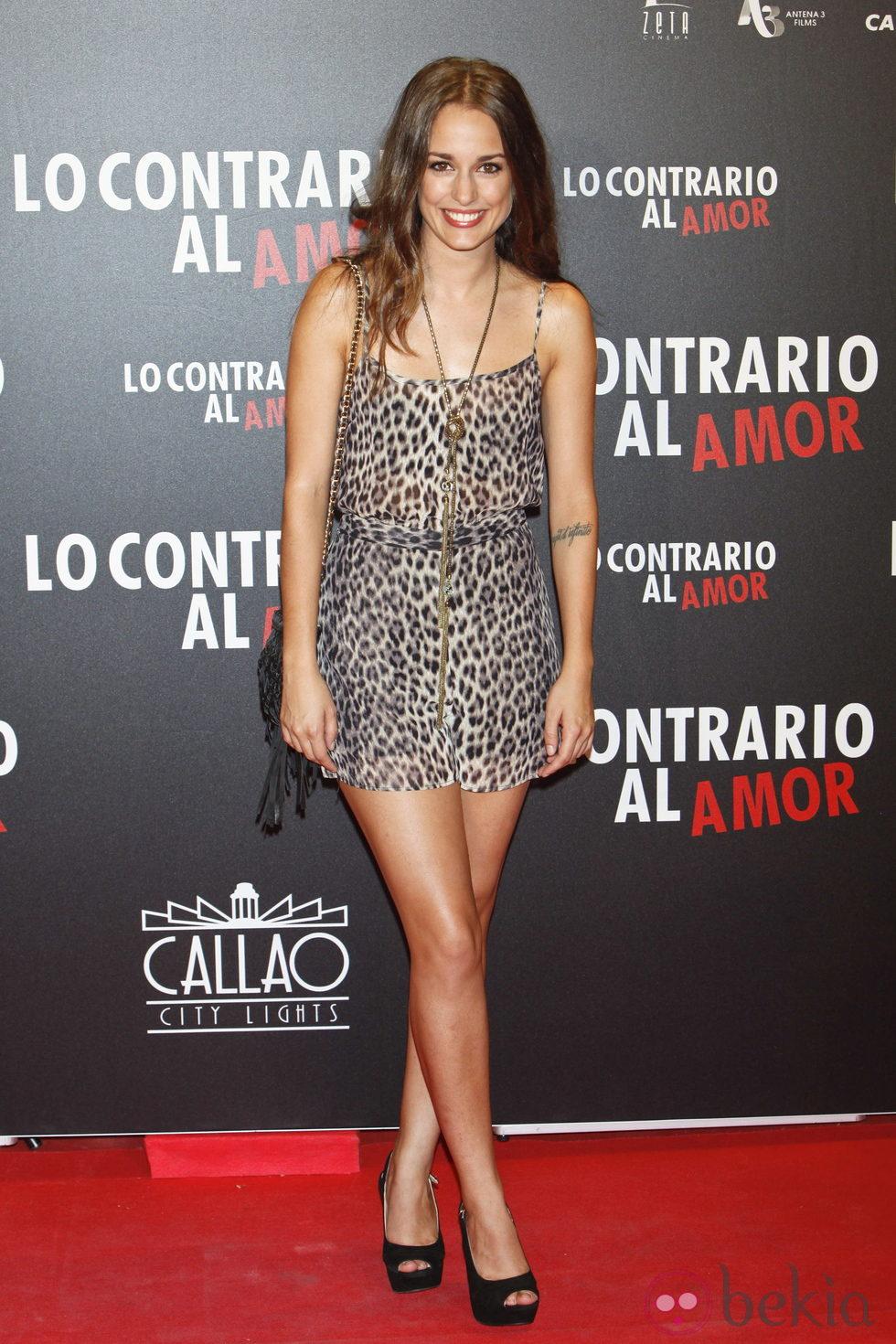 Silvia Alonso en el estreno de 'Lo contrario al amor' en Madrid